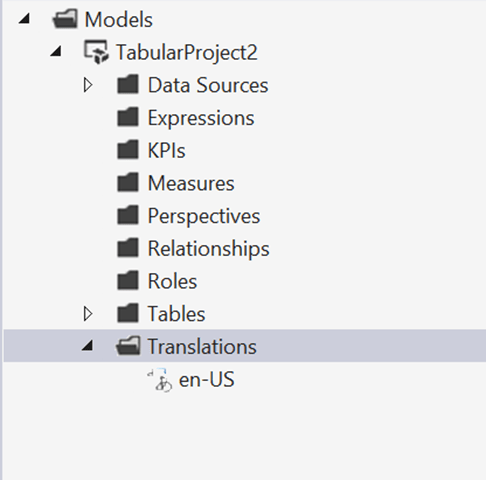 Separate business names from technical names using SSAS and Power BI