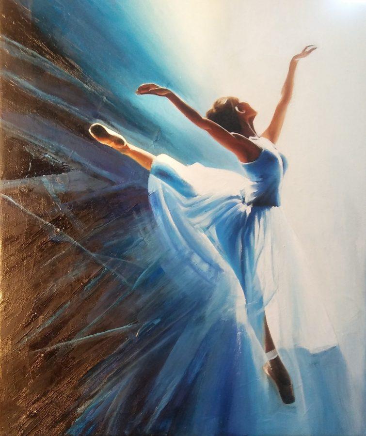 Bailarina soñadora azul