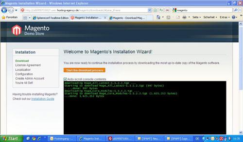 Installer Datei im Browser aufrufen