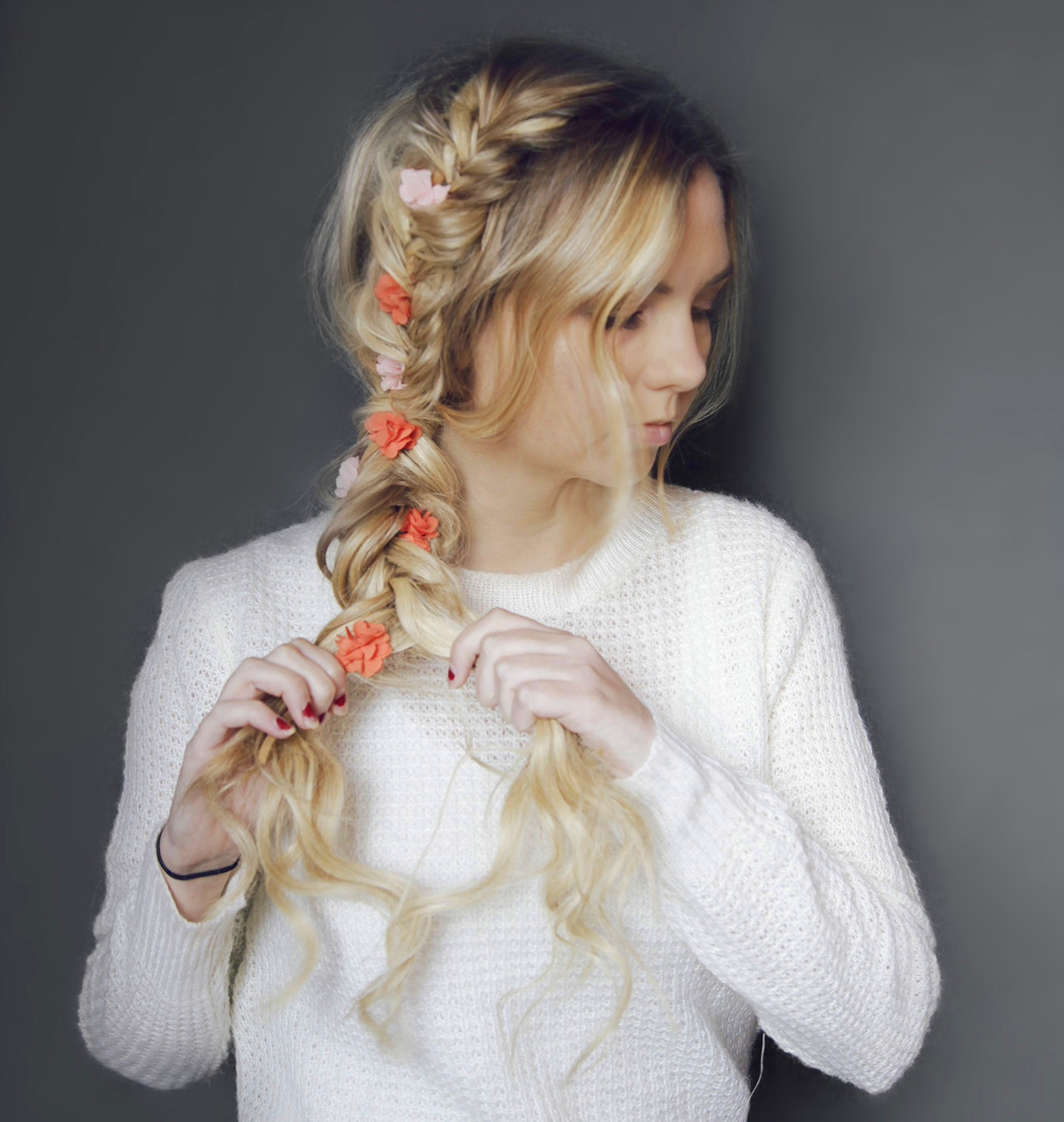 Double Fishtail Braid Hair Tutorial