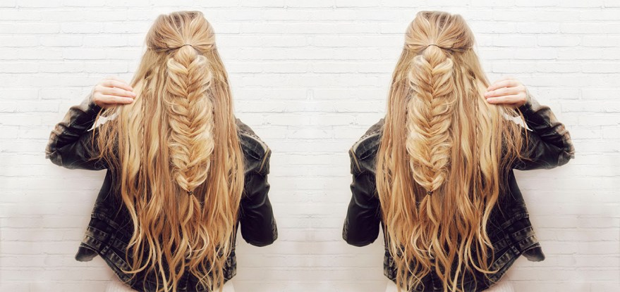 Half-up Fishtail Braid Hair Tutorial