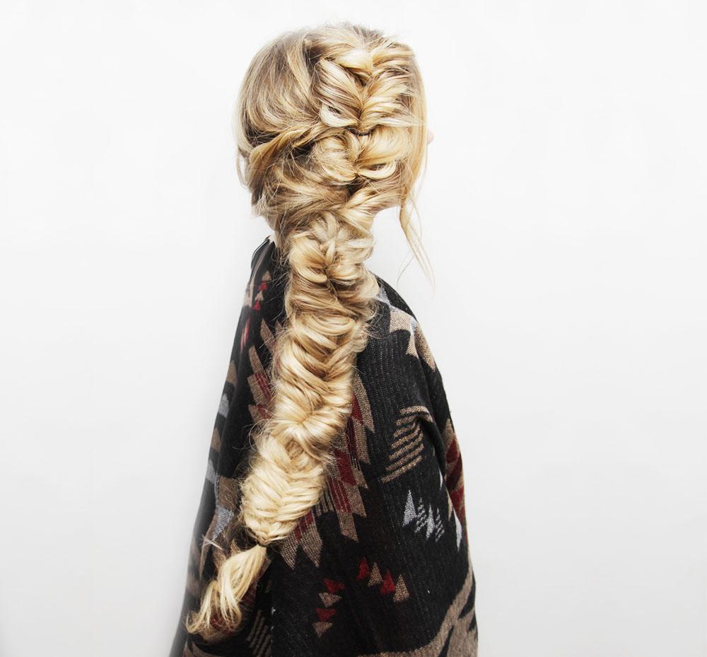 messy fishtail braid hair tutorial � kassinka