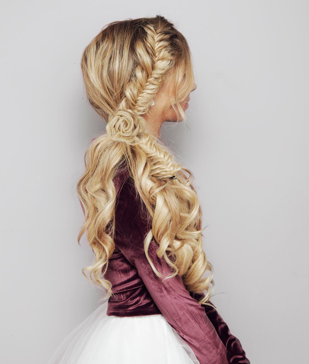festive side ponytail hair tutorial – kassinka