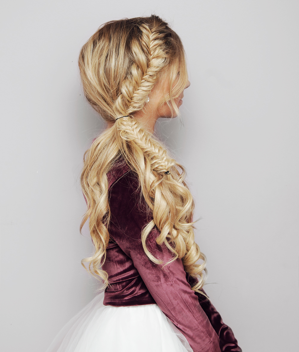 Festive Side Ponytail Hair Tutorial Kassinka