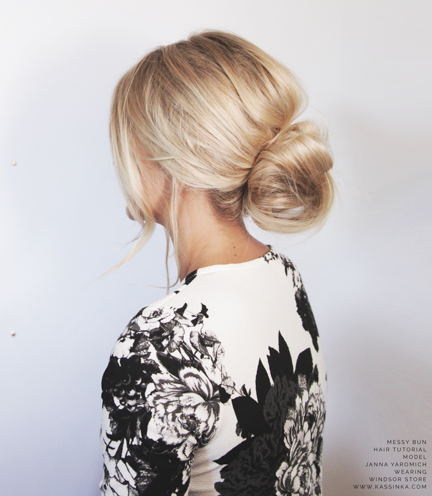 Kassinka-Messy-Bun-For-Short-Hair