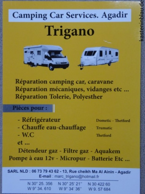 Camping Service Trigano in Agadir