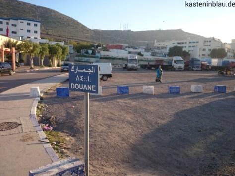 Parkplatz des Zoll im Hafen Agadir
