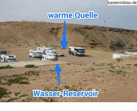 Lageplan warme Quelle + Wasser Reservoir