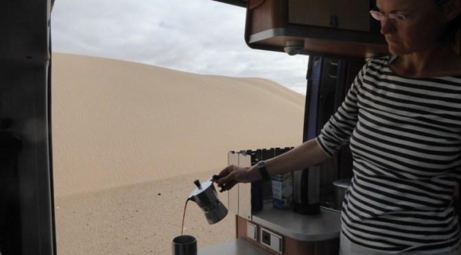 Wohnmobiltour durch die West-Sahara: von Tarfaya nach Laayoune (ca. 100 Km)