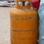 gelbe Gasflaschen