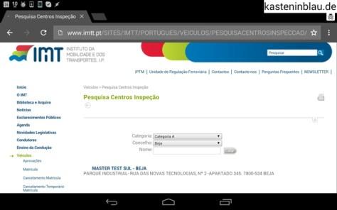 Internetseite zum Suchen der Prüffirmen.