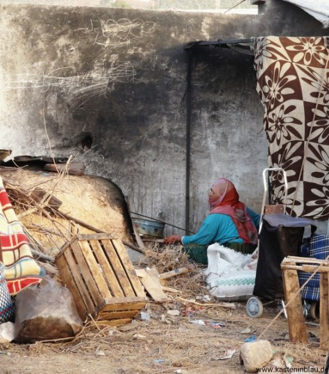 Hier wird Berberbrot gebacken