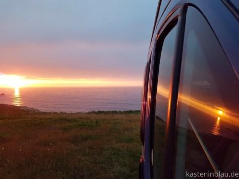 Sonnenuntergang Vanlife Nordspanien