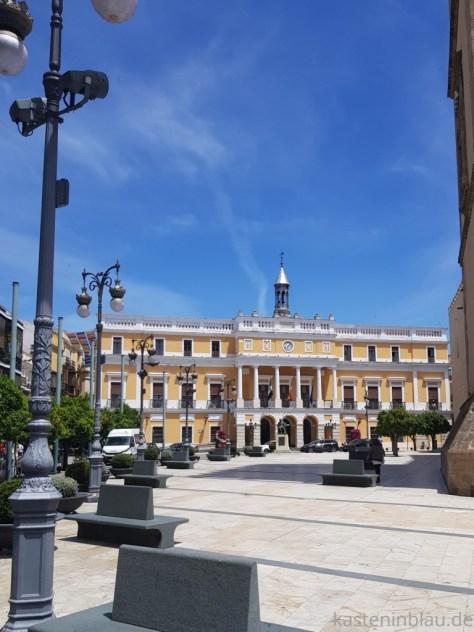 Rundgang durch Badajoz in Spanien