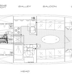 rj 43 interior plan kasten marine design inc  [ 2189 x 902 Pixel ]