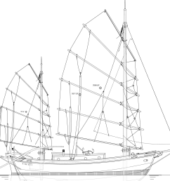 32 tahiti ketch junk rig kasten marine design inc  [ 1343 x 1131 Pixel ]