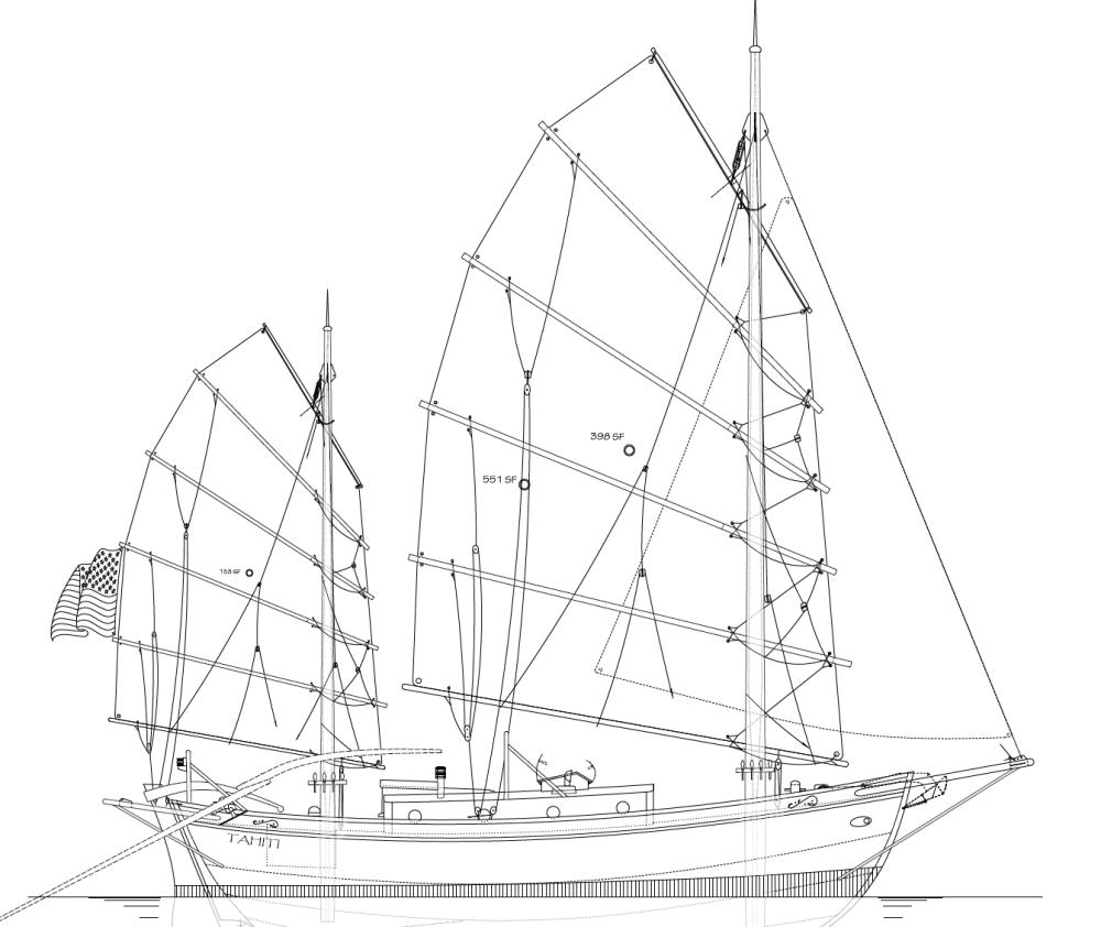 medium resolution of 32 tahiti ketch junk rig kasten marine design inc