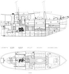 43 white buffalo interior layout kasten marine design inc  [ 1425 x 1303 Pixel ]
