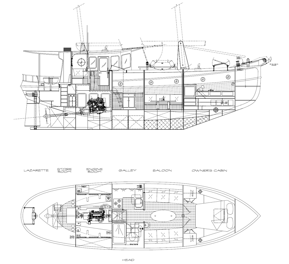 medium resolution of 43 white buffalo interior layout kasten marine design inc