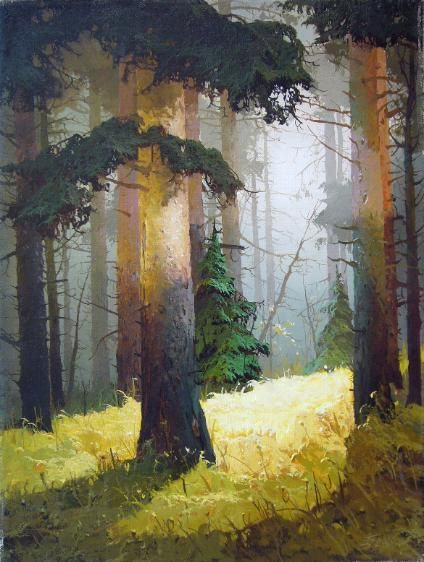 Autumn Light By Viktor Bykov, Oil Painting