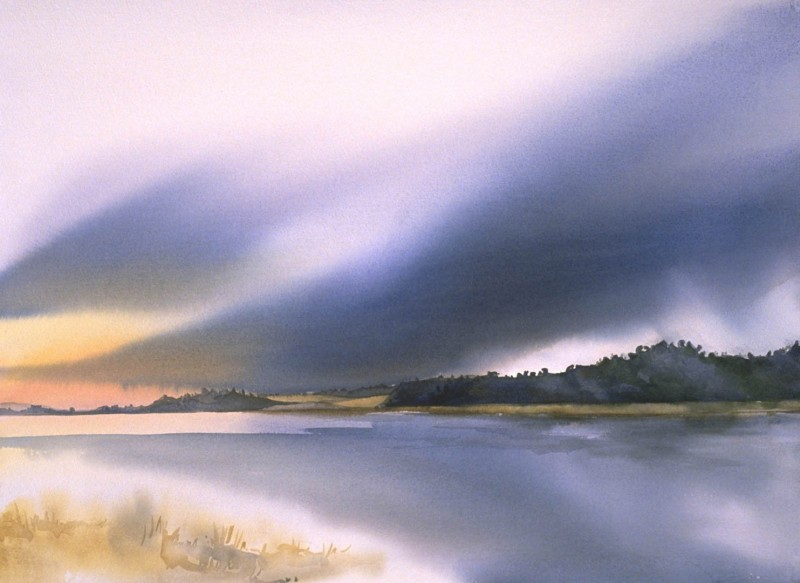 Before The Storm By Birgit O'Connor, Watercolor