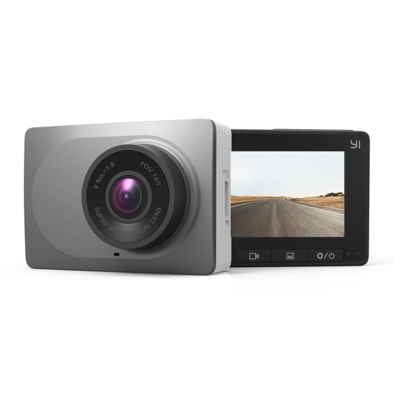 YI 2.7-Inch Screen Full HD 1080P Dashboard Camera, Car DVR Vehicle Dash Cam with G-Sensor, WDR, Loop Recording, Grey