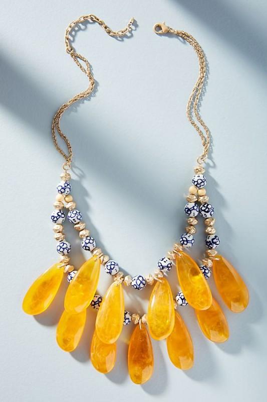 Golden Hour Bib Necklace