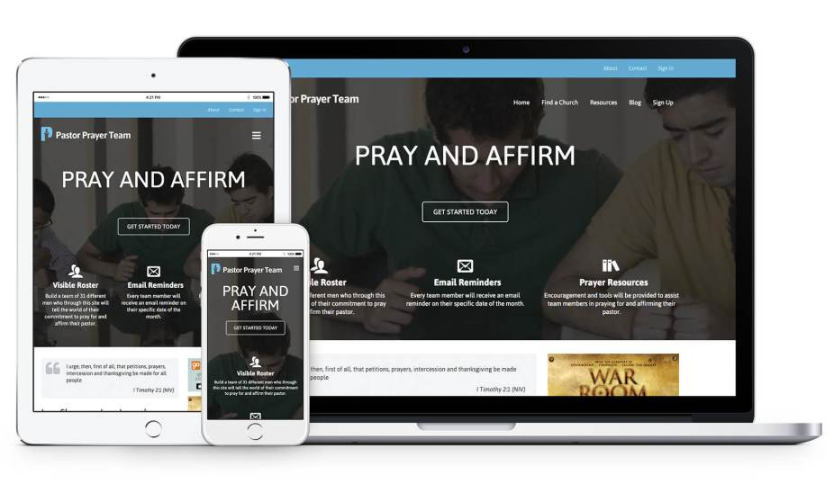 Pastor Prayer Team Responsive Web Design