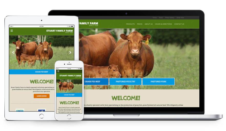 Stuart Family Farm Responsive Web Design