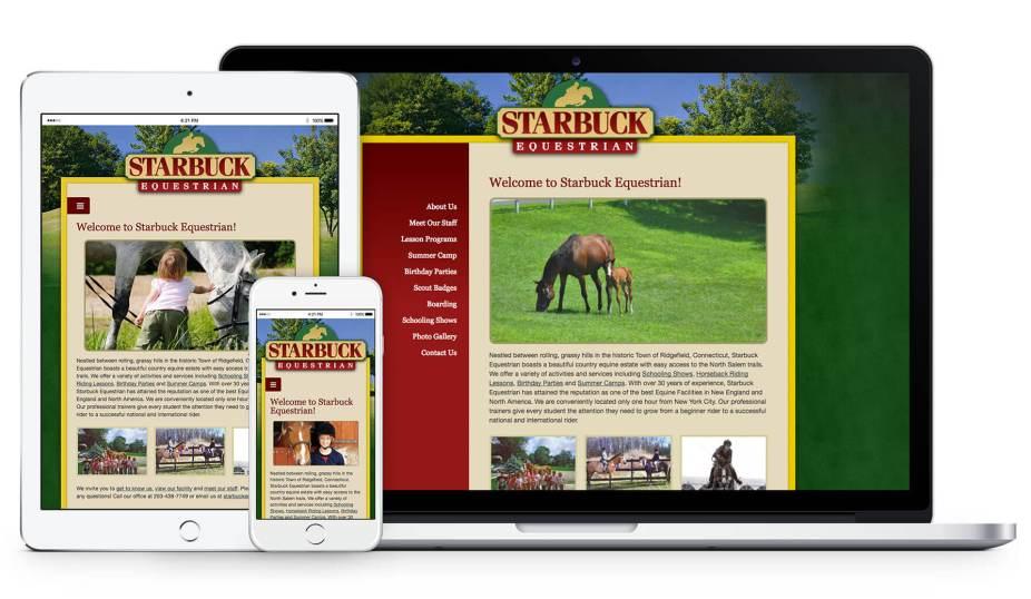 Responsive Web Design - Starbuck Equestrian