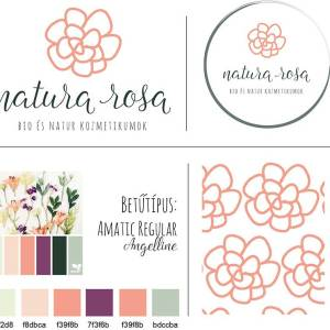 Natura-rosa-brand-board-2-webre, Natura Rosa pecsét, Natura Rosa másodlagos logó, Natura Rosa tavaszi virágos, retro, letisztult, korall, nőies logó kisvállalkozásoknak. Kozmetika, natur termékek, virágüzlet, illóolaj, parfume, fodrászat, ruházati vállalkozás, tervezőiroda, tanácsadás, coaching, kézműves vállalkozás, lakberendező egyedivé teheti vele a vállalkozását