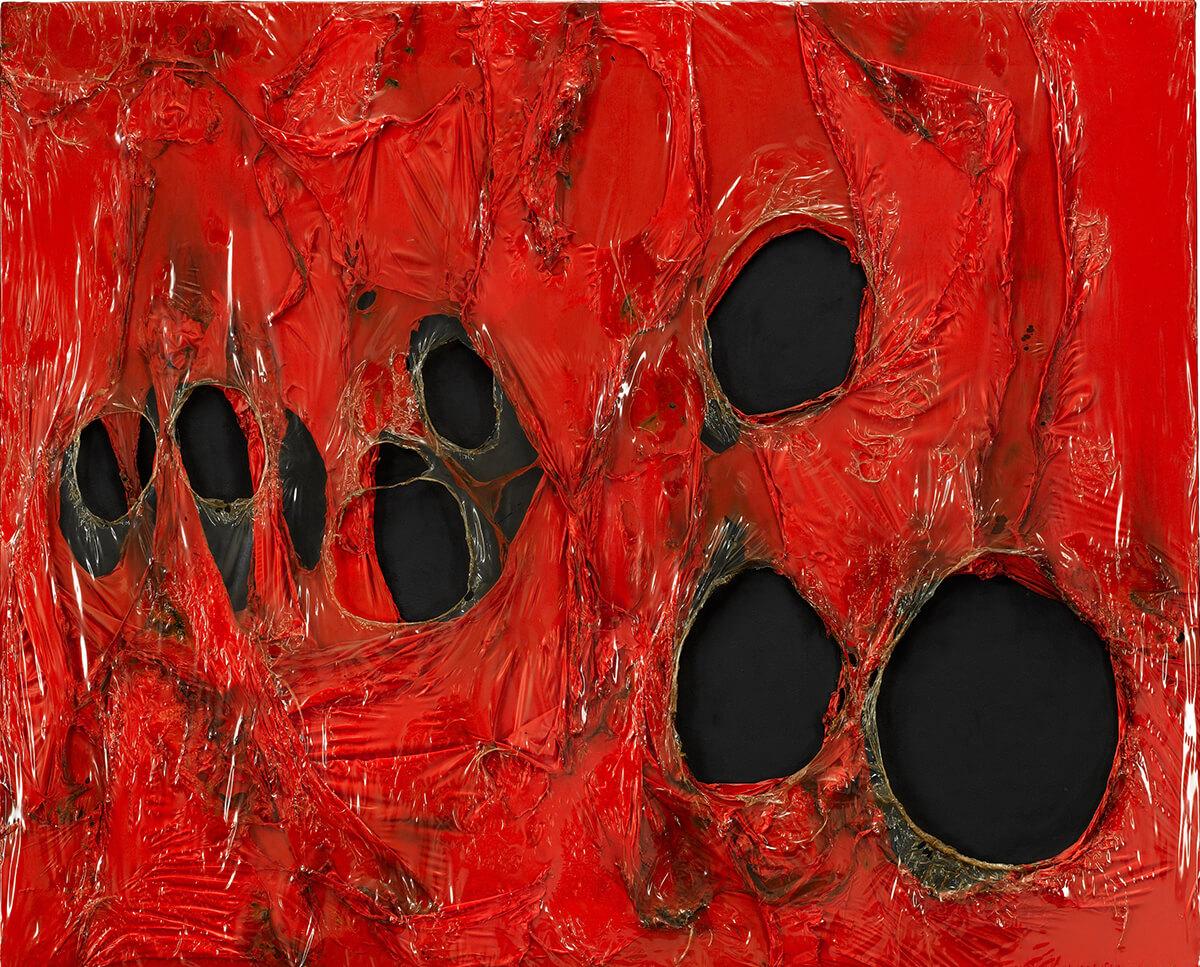 Alberto Burri Rosso Plastica 1963  Katarte
