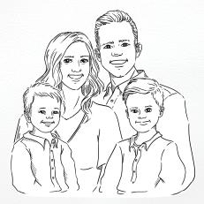 Portret - rodzina Ellie i Jareda Mechan