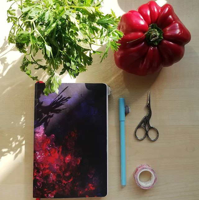 Instagram - #latesummer #kitchendesign #mealplanner #red #pepper #devangari #bulletjournal