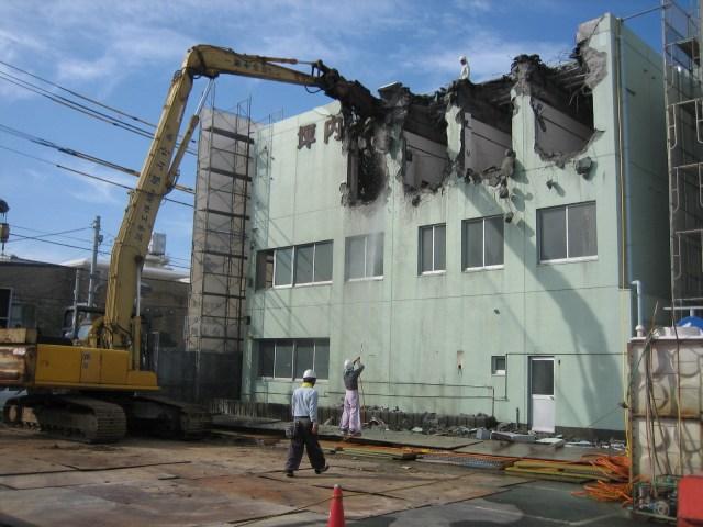 旧坪内医院建屋解体工事