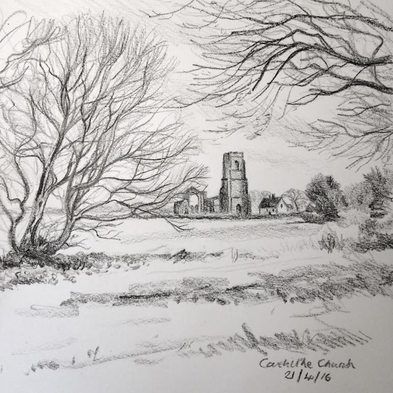 Covehithe church sketch 112