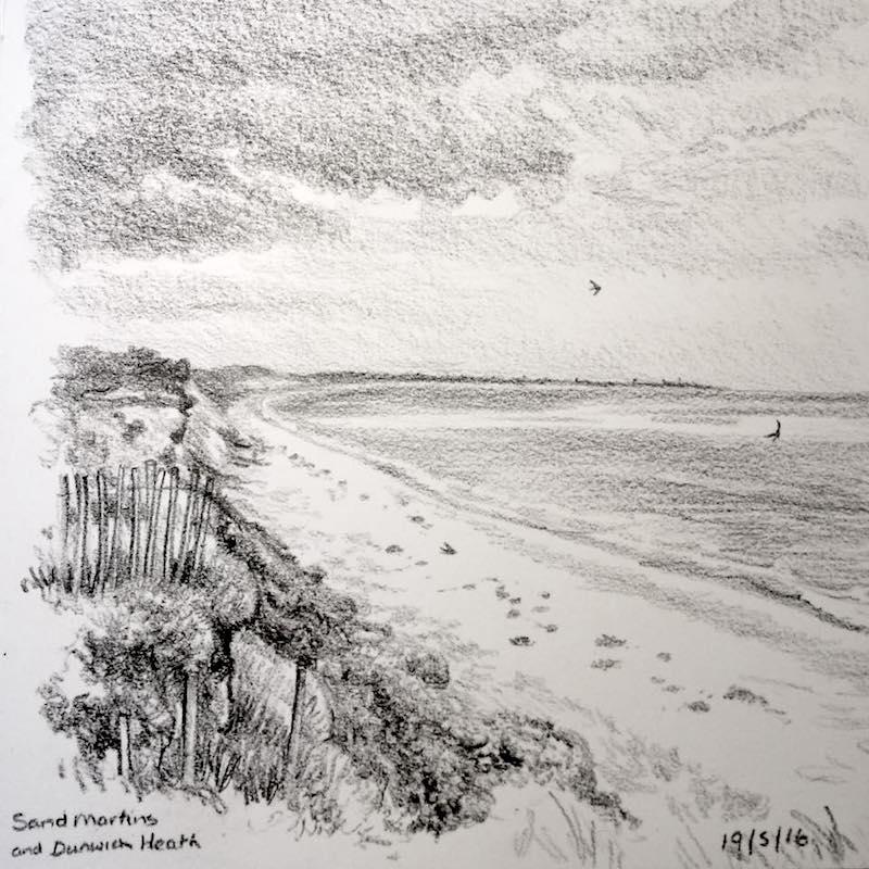 Dunwich Heath NT sketch 140