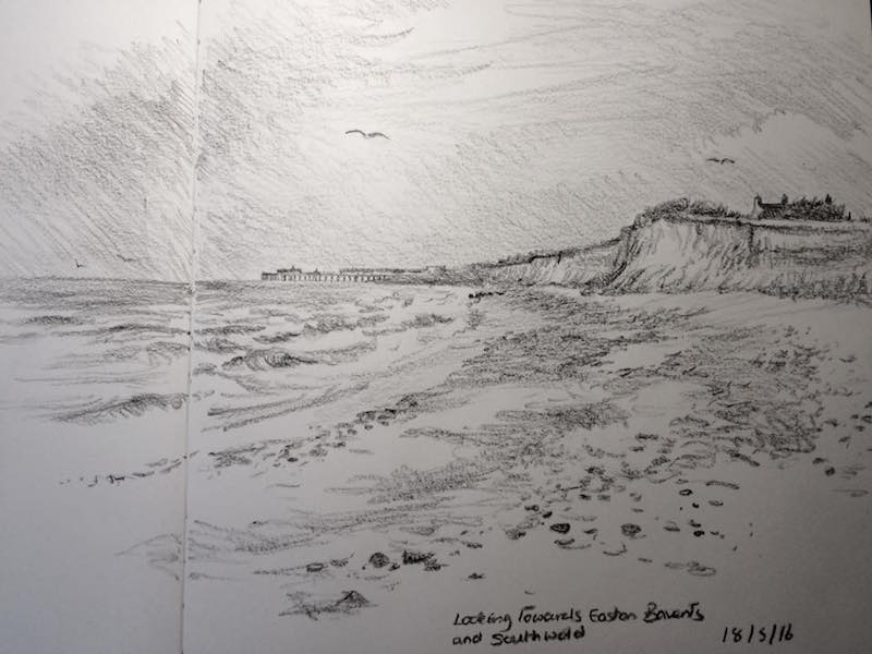 From Easton Bavents to southwold sketch 139