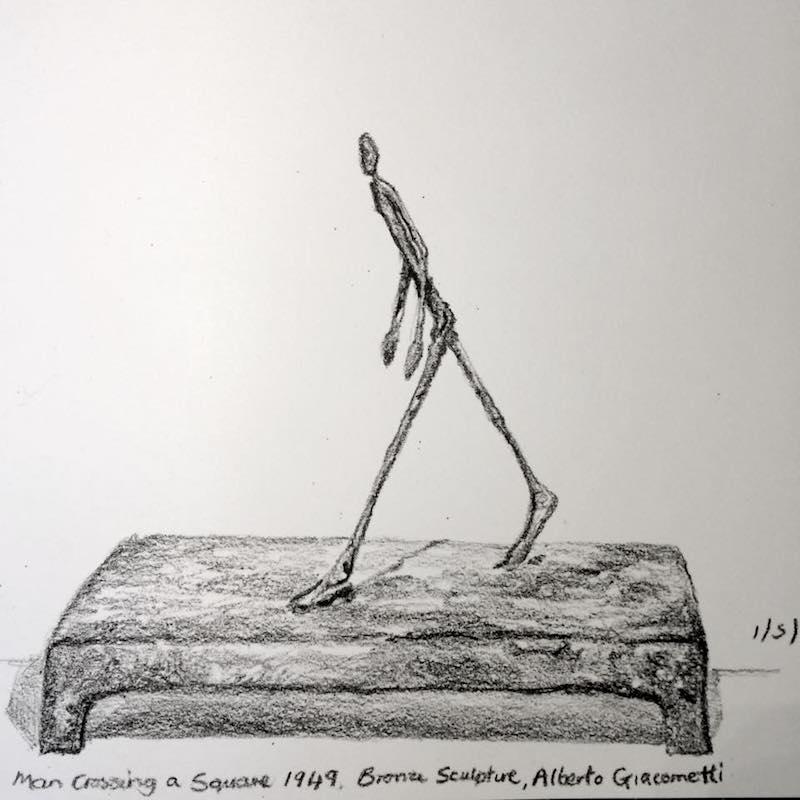 Giacometti sketch at Sainsbury centre 122