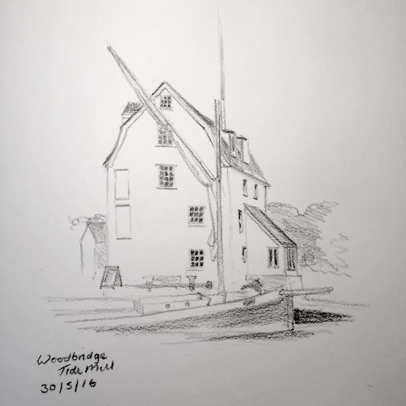Woodbridge Tide Mill sketch 150