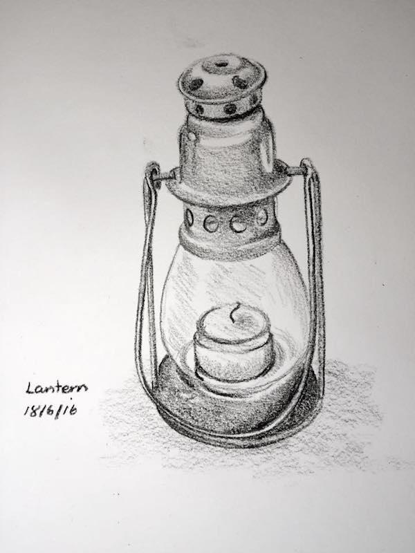 Tea candle lantern sketch 170
