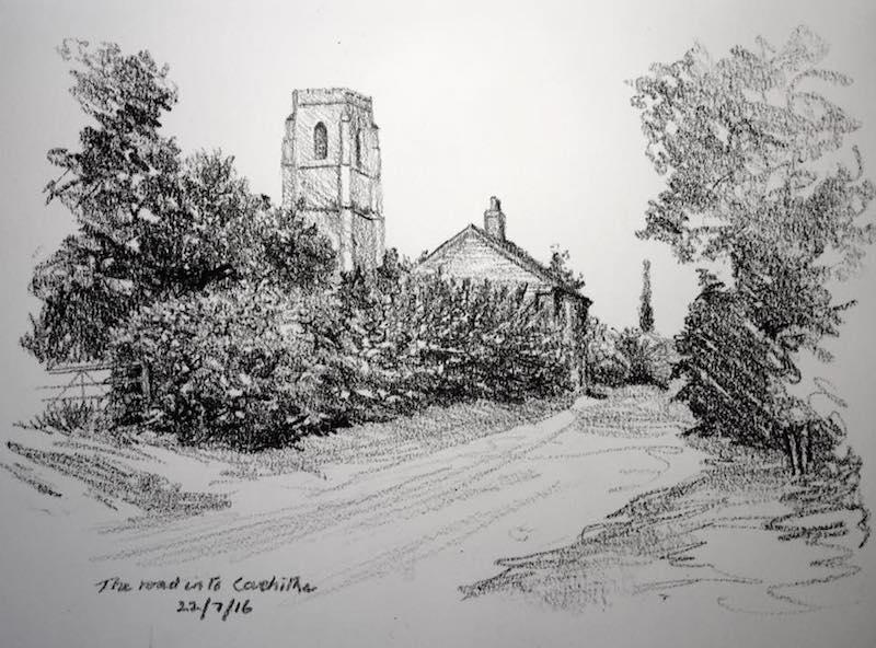Covehithe Church sketch 204