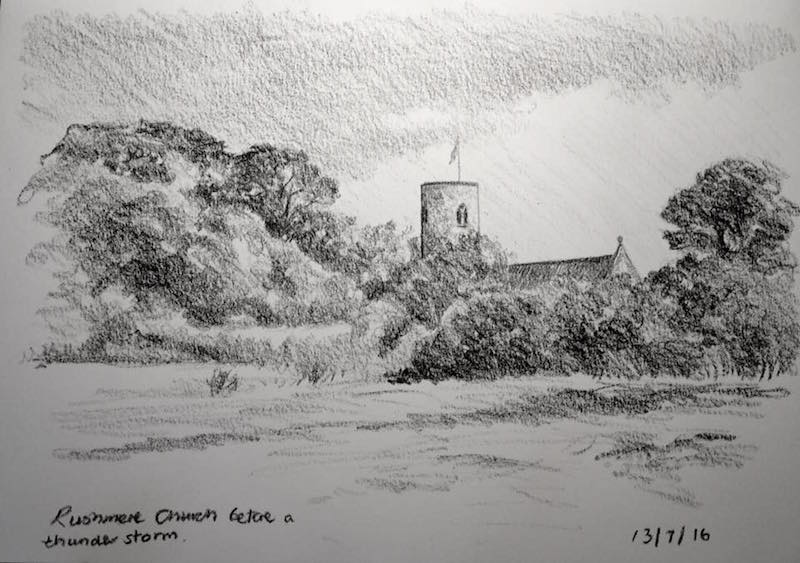 Rushmere church sketch 195
