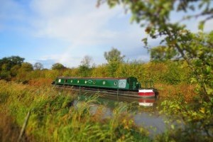 Luxury narrowboat on the grand union canal