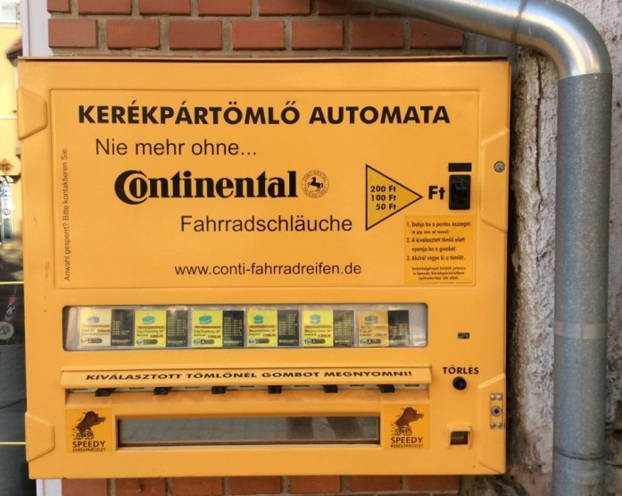 Tire repair vending machine in Bekescsaba