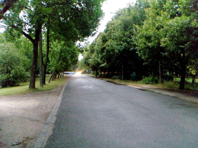 main road green grey