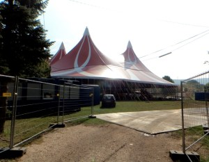 A38 stage festival tent roof