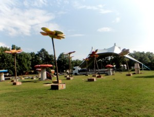 decorations art music festival buidling sziget
