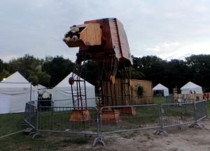 Art at Sziget flying teddy bear