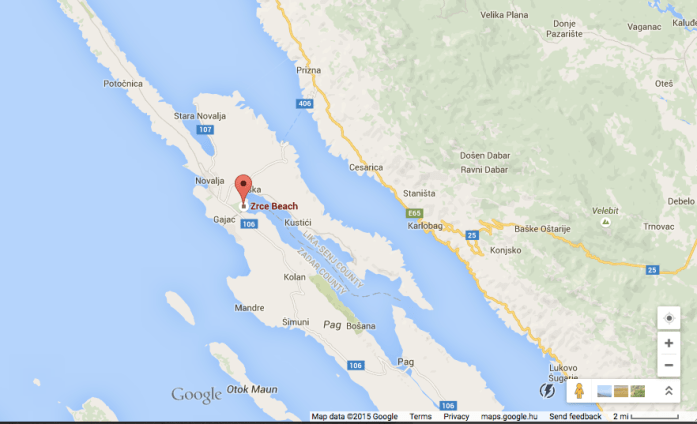 zrce beach party location croatia novalja